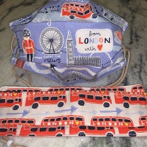 His / hers London travel face mask set new 2 pc